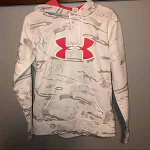 BRAND NEW camouflage white and pink hoodie